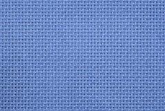 Голубая ткань Aida Стоковые Фотографии RF