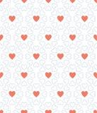 Голубая точка и красный день валентинки сердца делают по образцу предпосылку Стоковые Фото