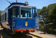 Голубая трамвайная линия Tramvia Blau Стоковое фото RF