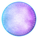 Голубая & фиолетовая абстрактная футуристическая предпосылка Стоковая Фотография