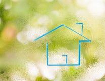 Голубая форма дома Стоковая Фотография