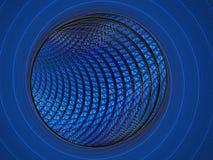 Голубая фракталь кольца и предпосылки шарика Стоковые Фото