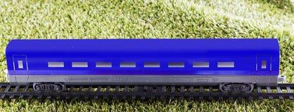 Голубая фура поезда игрушки Стоковое Изображение