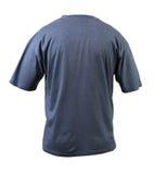 Голубая футболка. Задняя часть. Стоковая Фотография