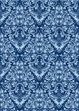 Голубая флористическая безшовная картина повторяя предпосылку Стоковые Изображения