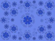 голубая флористическая картина Стоковое Фото
