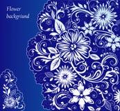 Голубая флористическая предпосылка Стоковое Фото