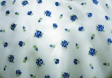 Голубая флористическая ткань Стоковые Изображения