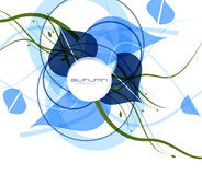 Голубая холодная абстрактная предпосылка вектора Стоковое Изображение RF