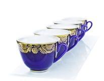Голубая чашка в утре Стоковая Фотография RF