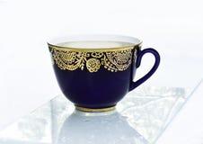 Голубая чашка чаю Стоковая Фотография