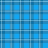 голубая шотландка ткани Стоковые Изображения