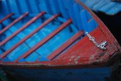 голубая шлюпка Стоковые Фотографии RF