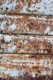 Голубая эмаль разрушена ржавчиной Стоковые Фотографии RF