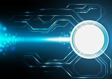 Голубая электронная предпосылка технологии Стоковые Изображения