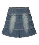 Голубая юбка джинсовой ткани Стоковая Фотография RF