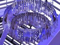 Голубая люстра хрома Стоковые Фото