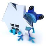 голубая лягушка иллюстрация штока