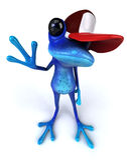 голубая лягушка бесплатная иллюстрация