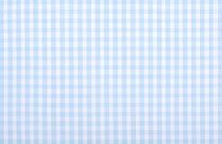 Голубая checkered ткань Стоковые Фотографии RF