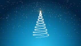 Голубая loopable предпосылка зимы иллюстрация штока