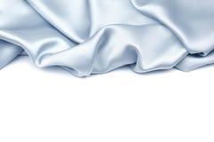 Голубая silk предпосылка Стоковая Фотография RF