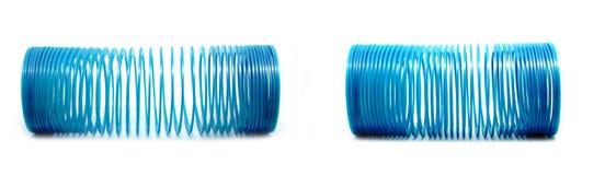 Голубая slinky игрушка Стоковая Фотография RF