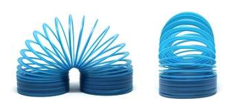 Голубая slinky игрушка Стоковая Фотография
