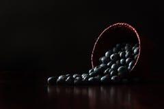 Голубики в корзине Стоковые Фотографии RF