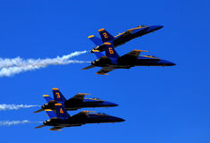 Голубое Анджел Airshow на робинах AFB Стоковое фото RF