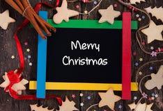 голубое волшебство рамки рождества Стоковое Изображение