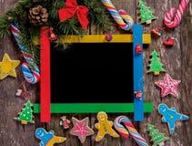 голубое волшебство рамки рождества Стоковая Фотография