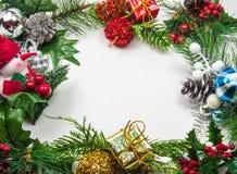 голубое волшебство рамки рождества Стоковые Фотографии RF