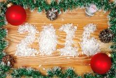 голубое волшебство рамки рождества Стоковые Изображения RF