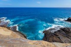 голубое глубокое море Стоковое Изображение