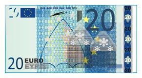Голубое евро наличных денег иллюстрация штока