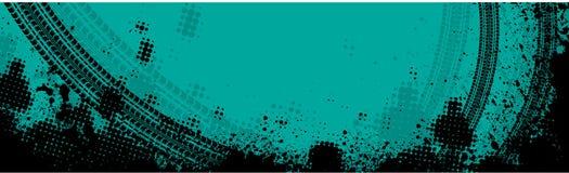 Голубое знамя следа автошины Стоковые Изображения