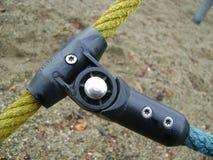 Голубое и желтое соединение веревочки стоковое изображение