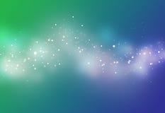 Голубое и зеленое bokeh луча Стоковая Фотография RF