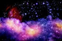 Голубое и magenta межзвёздное облако стоковые изображения