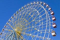 голубое колесо неба ferris Стоковое Изображение