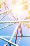 голубое колесо неба ferris Стоковые Изображения RF