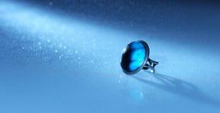 Голубое кольцо космоса Стоковые Изображения
