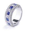 Голубое кольцо драгоценной камня Стоковая Фотография RF