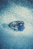 Голубое кольцо Aventurine Стоковые Фотографии RF