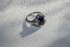 Голубое кольцо Aventurine Стоковые Изображения
