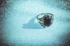 Голубое кольцо Aventurine Стоковая Фотография