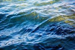 Голубое море волны пульсации Стоковые Фотографии RF