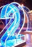 Голубое накаляя номер два стоковые изображения