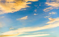 Голубое небо вечера Стоковая Фотография